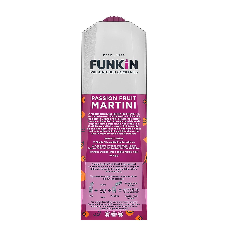Funkin Passion Fruit Martini Cocktail Mixer 6 X 1 Litre Case Of 6 Amazon De Lebensmittel Getranke