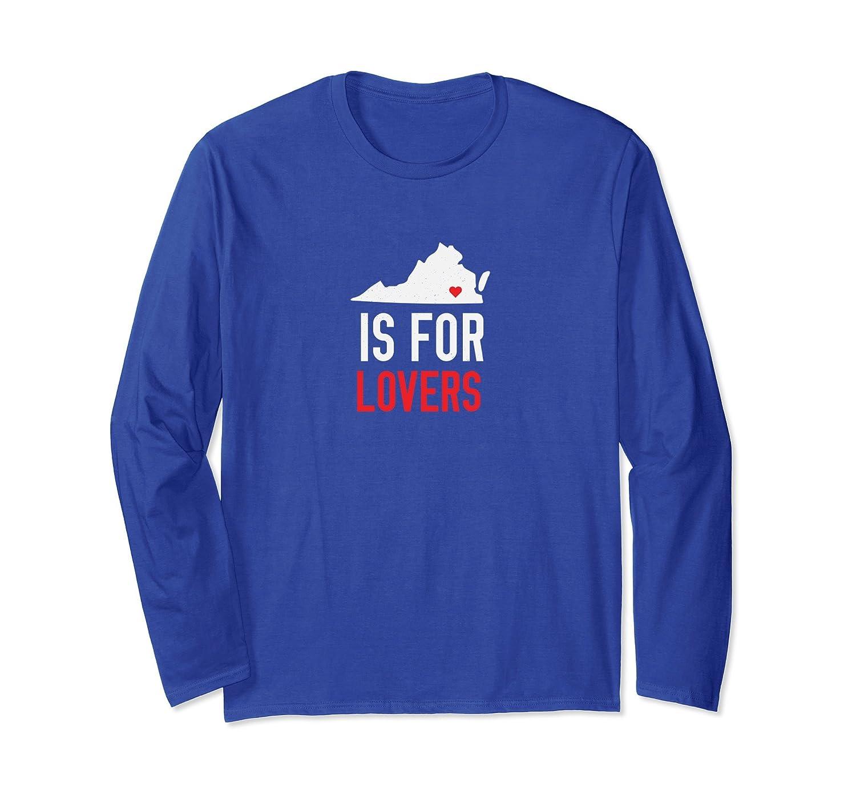 Throwback Vintage Virginia Lovers Long Sleeve T-Shirt-Awarplus