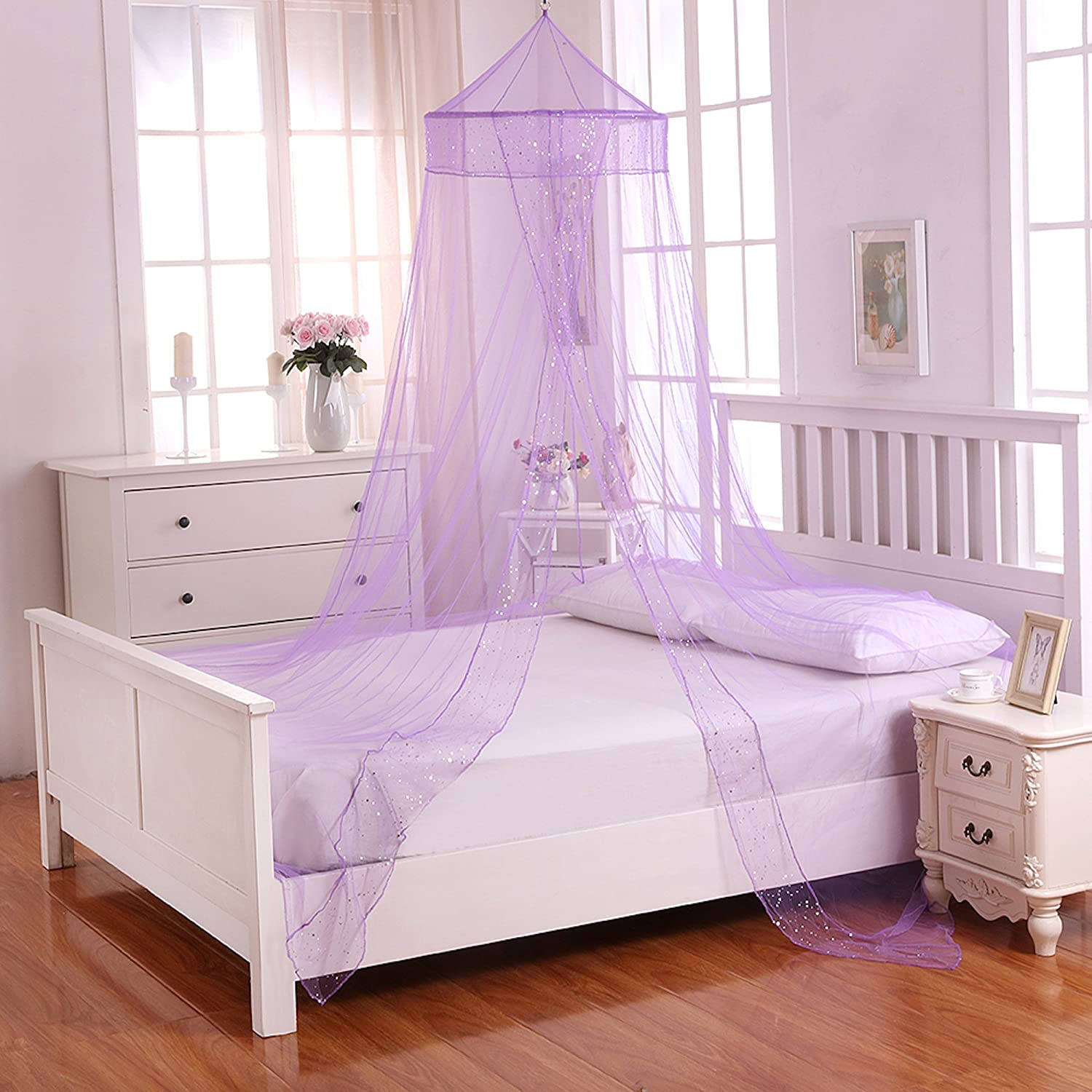 - Amazon.com: Fantasy Kids Galaxy Kids Collapsible Hoop Sheer Bed