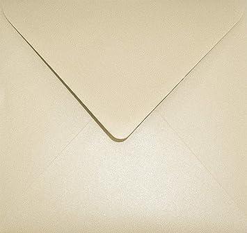 25 Perlmutt-Rose-Gold Briefumschläge DIN lang ohne Fenster Aster Metallic Glanz