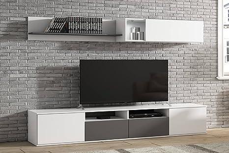 LIQUIDATODO ® - Muebles de Salon Modernos Color Blanco ...