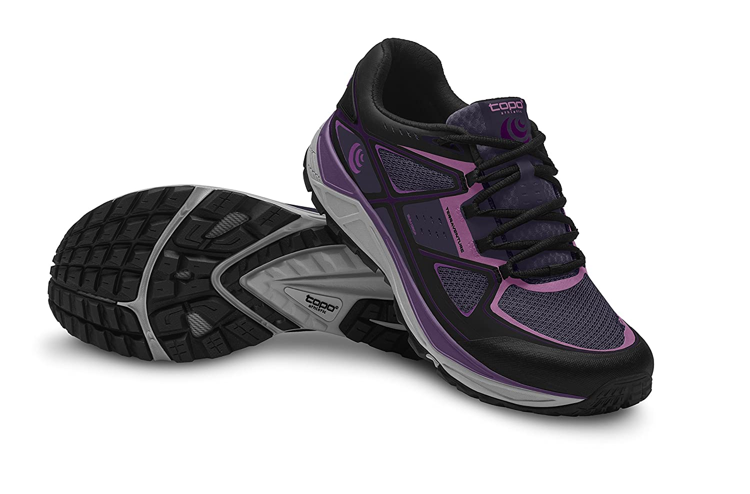Topo Athletic Terraventure Running Shoe - Women's B01LZ0LZR1 8.5 B(M) US|Purple/Black