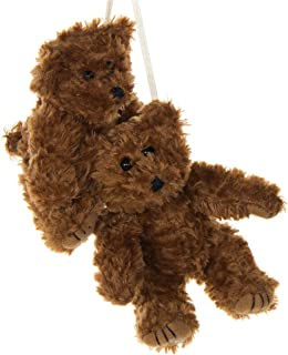 product image for 2 Pack of Brown Teddy Bear Crib Mobile Attachments | Hanging Plush Animal Decorations for Baby Girl or Boy Playpen or Crib | Accessories for Use with Mobile Hanger Sold Separately