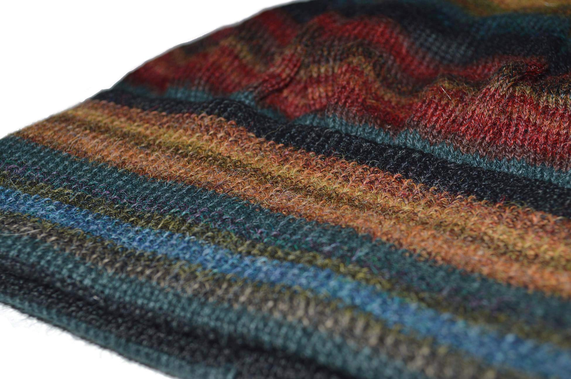 Invisible World Women's Alpaca Wool Hat Knit Unisex Beanie Winter Chiminea Md by Invisible World (Image #3)