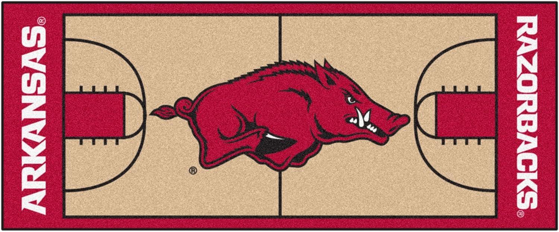 FANMATS NCAA University of Arkansas Razorbacks Nylon Face Basketball Court Runner