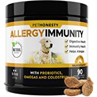 PetHonesty Allergy Relief Immunity Supplement for Dogs - Omega 3 Salmon Fish Oil...