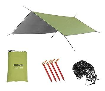 WoneNice C&ing Tent Tarps Sunshade Shelter Beach Shelter Waterproof Sunshade Tent Rain Fly Tent Tarp  sc 1 st  Amazon.com & Amazon.com : WoneNice Camping Tent Tarps Sunshade Shelter Beach ...
