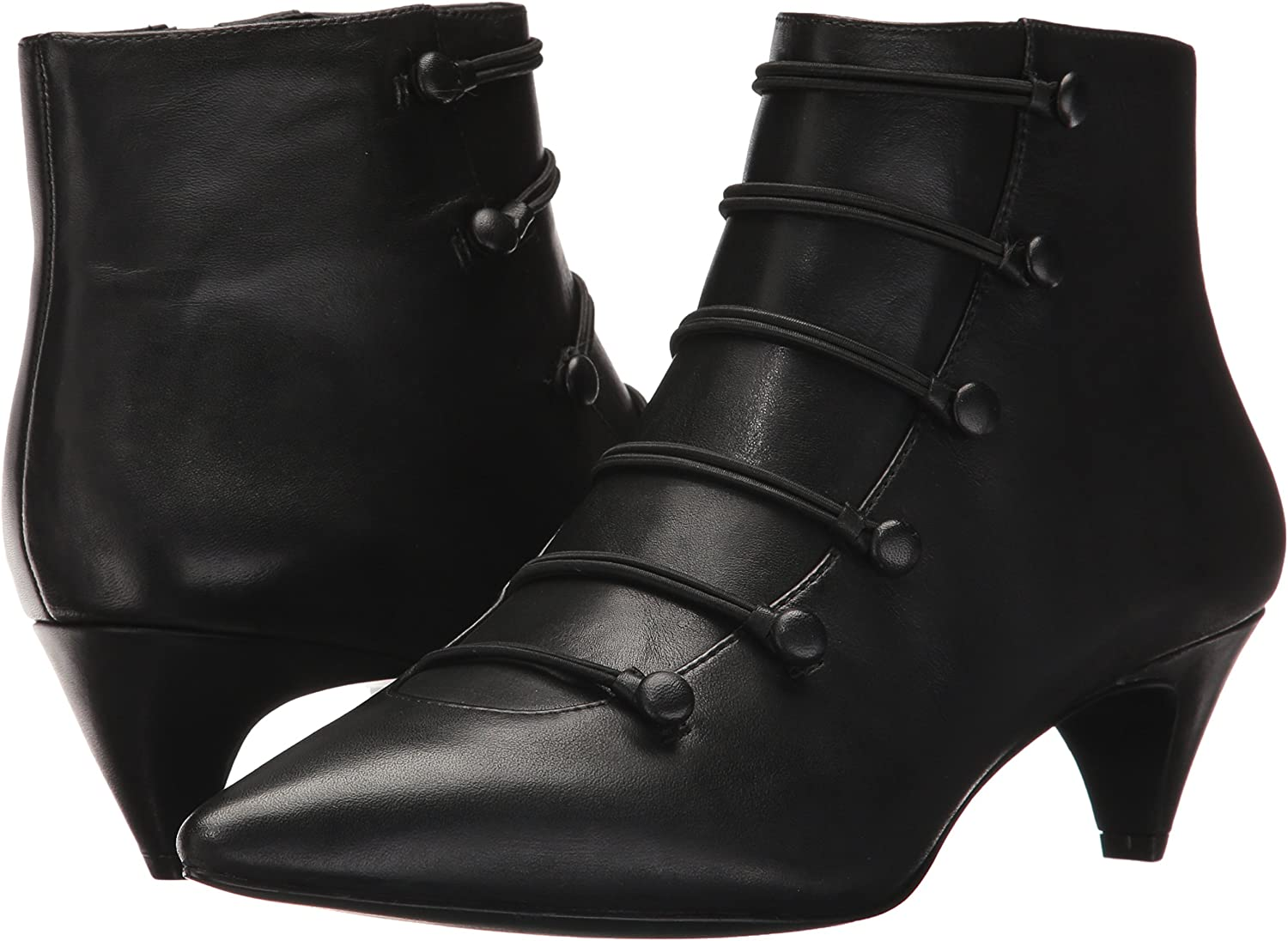 NINE WEST Womens Zadan Leather Ankle Boot