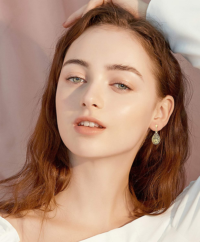 SAILIMUE 10 Pairs Clip Earrings for Women Fahion Rose Flower CZ Simulated Pearl Hoop Earrings Twist Knot Pierced Clip On Earrings