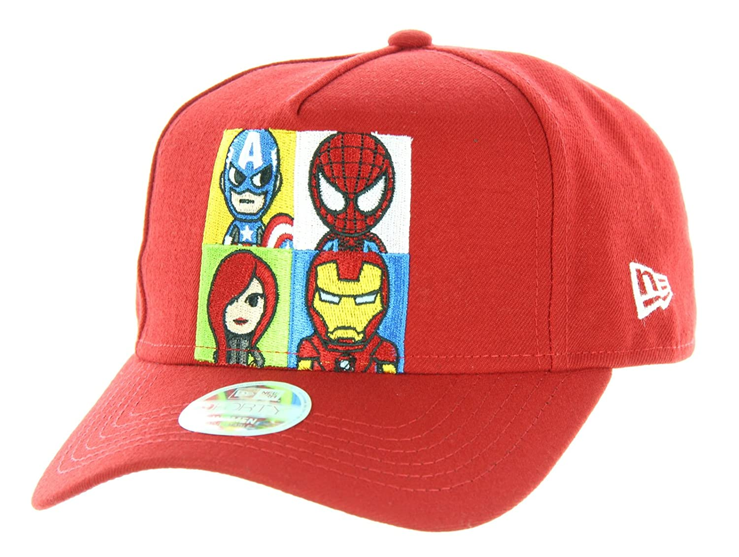 0dc88e0290a Amazon.com  Tokidoki Marvel Lineup New Era 9Forty Women s Red Snapback Hat   Clothing