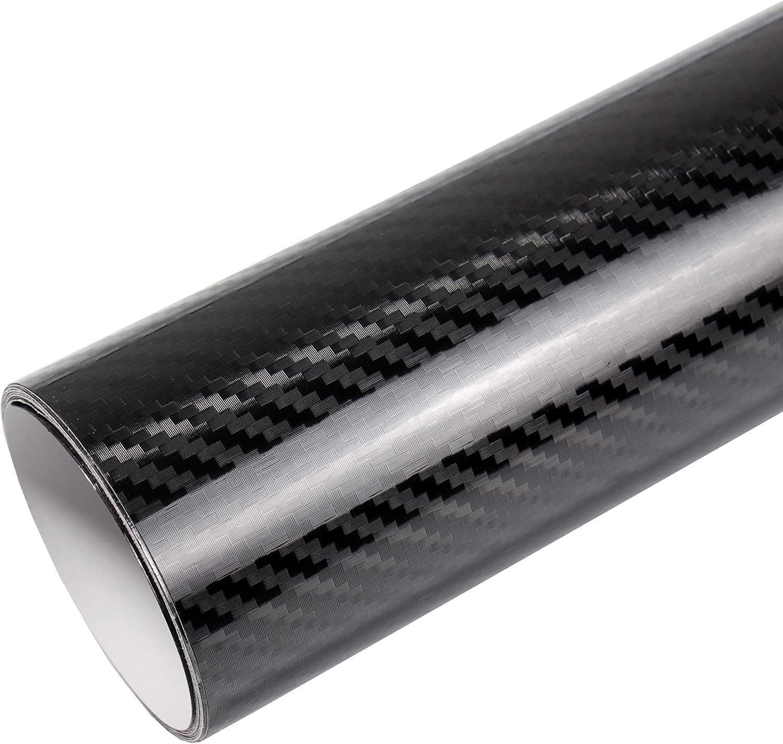 9€//m² 5D Carbon Carbonfolie Autofolie folie Auto schwarz glanz glänzend