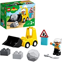 LEGO® DUPLO® İnşaat Buldozeri 10930 Mini Buldozer Kamyon Seti; 2 Yaş ve Üzeri Çocuklar için İşlevsel Yapım Oyuncağı (10…