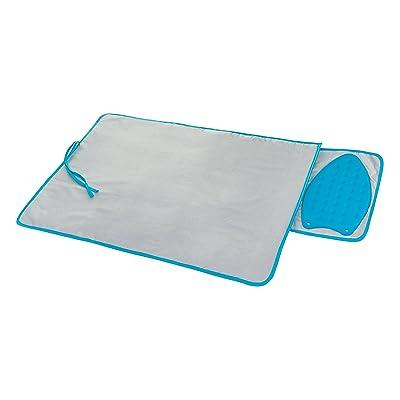 Livivo® Voyage Tapis de fer à repasser avec repose-fer en silicone Pad–éponge douce Drap avec housse métallisée pour Refléter la chaleur–Dessus de tab