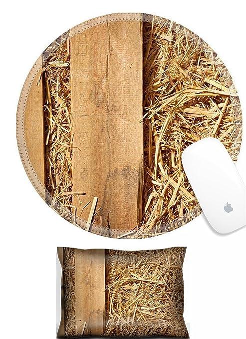 Amazon Com Luxlady Mouse Wrist Rest And Round Mousepad Set