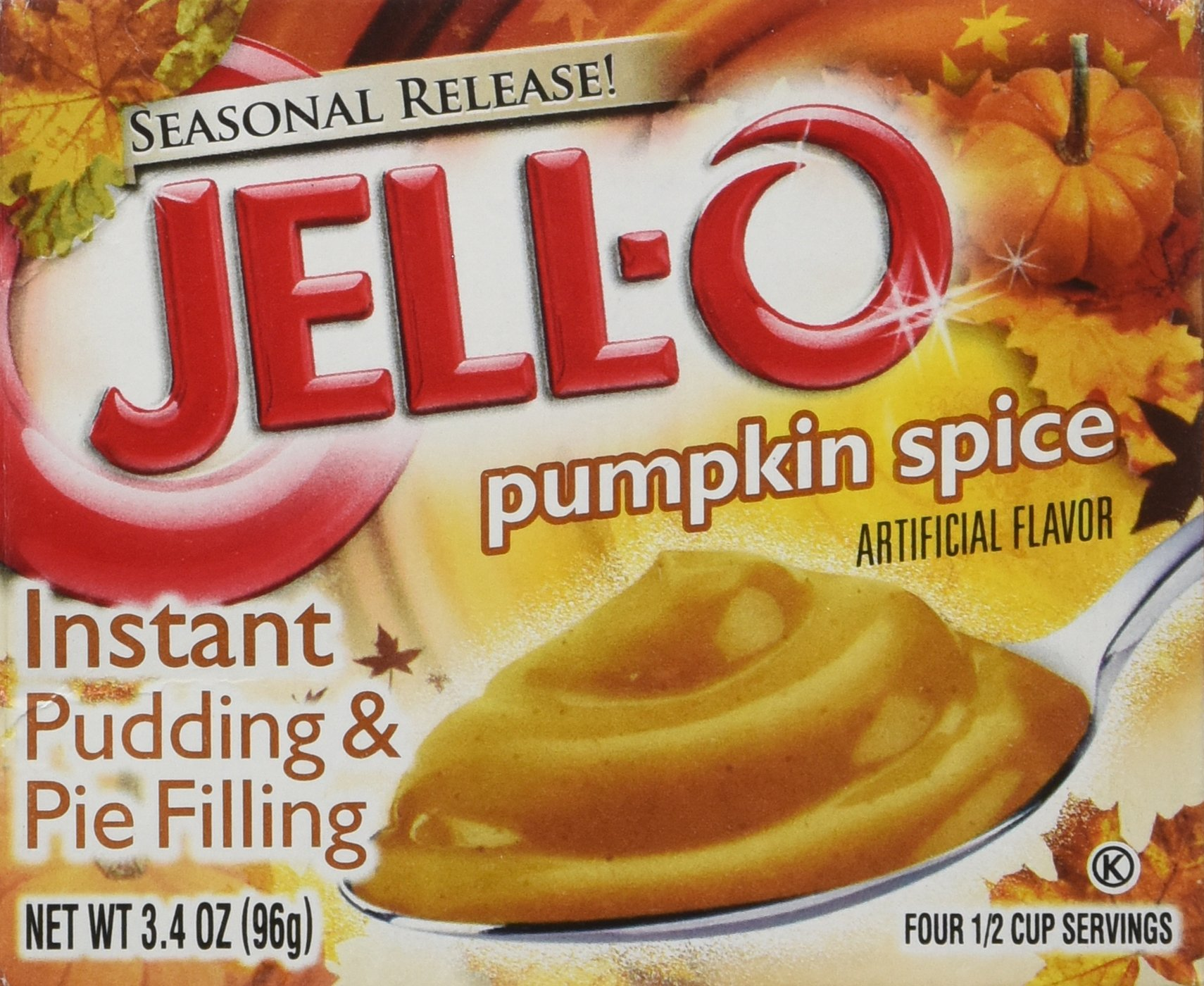 Kraft Jell-O Instant Pudding & Pie Filling, Pumpkin, 3.4-Ounce Boxes (Pack of 3)