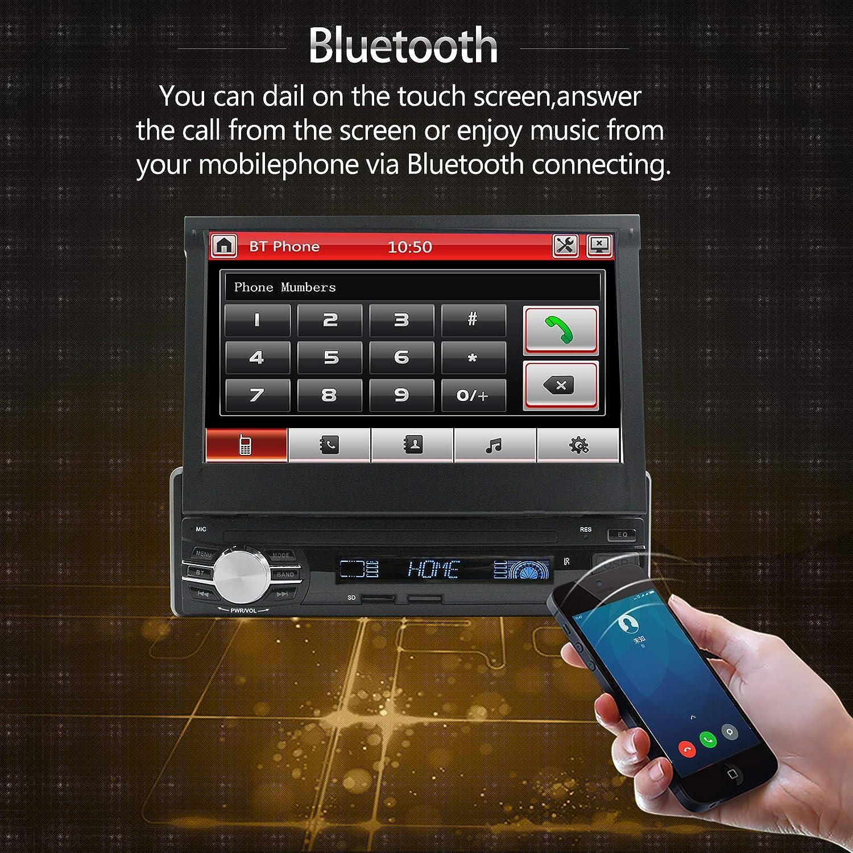 Autoradio a DIN singolo con DAB DAB+ radio FM Bluetooth lettore multimediale USB//SD//AUX schermo tattile da 7 pollici LEXXSON