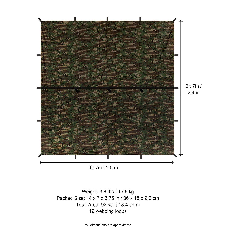 Amazon.com : Aqua Quest Defender Tarp Square 10 x 10 ft Camo - Heavy ...