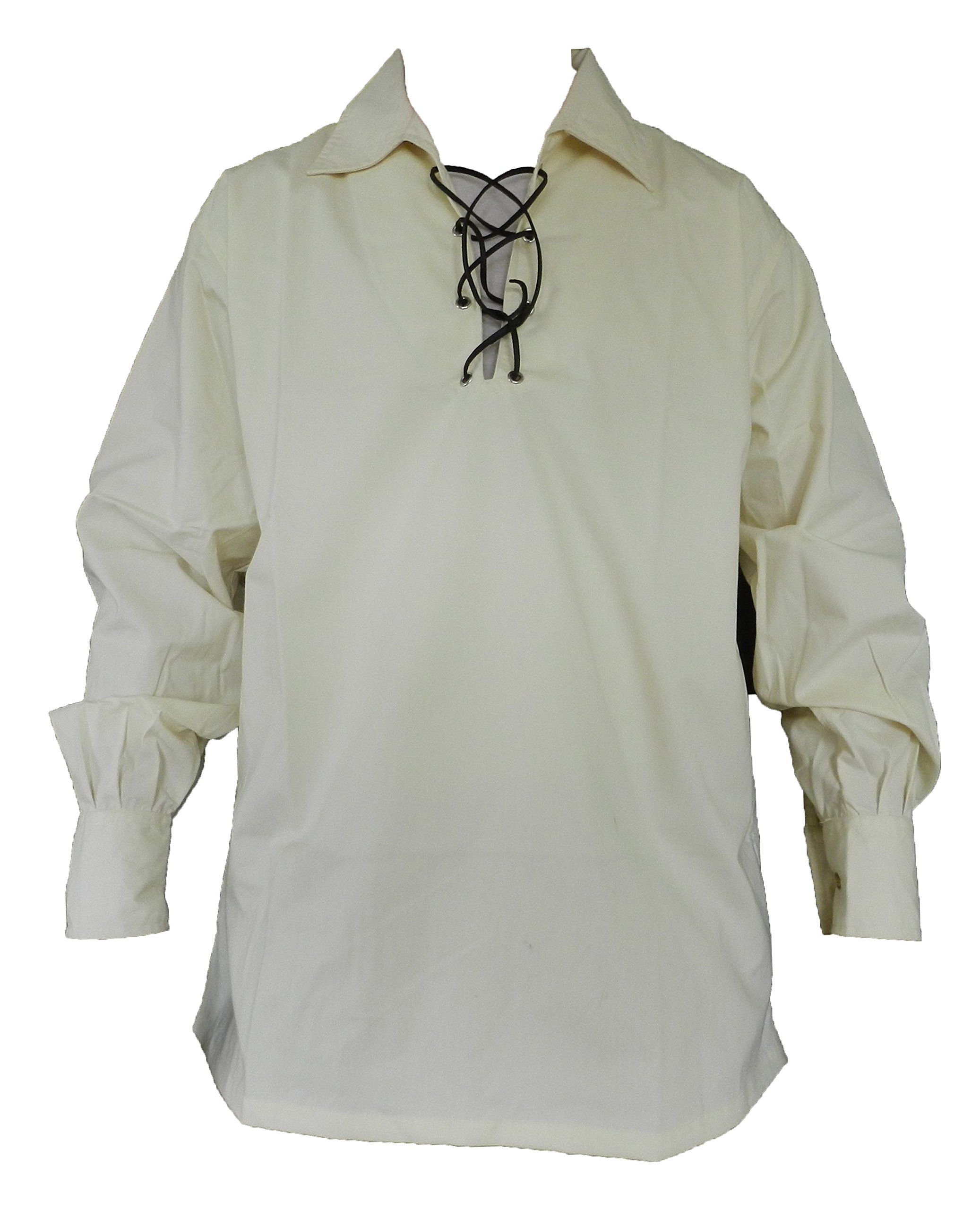 UT Kilts Jacobite Ghillie Shirt Cream Large
