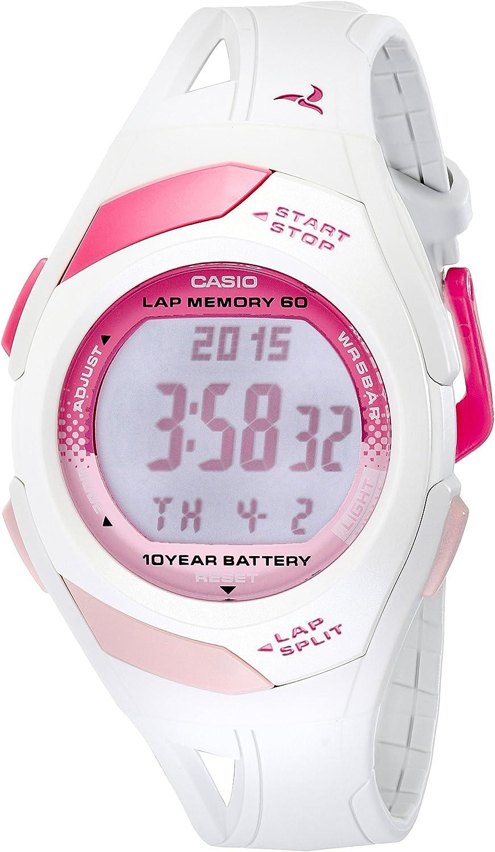 Casio STR300-7 - Reloj para Mujeres, Correa de Resina Color Blanco