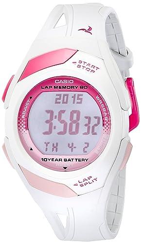 Casio STR300-7 - Reloj para mujeres, correa de resina color blanco: Amazon.es: Relojes
