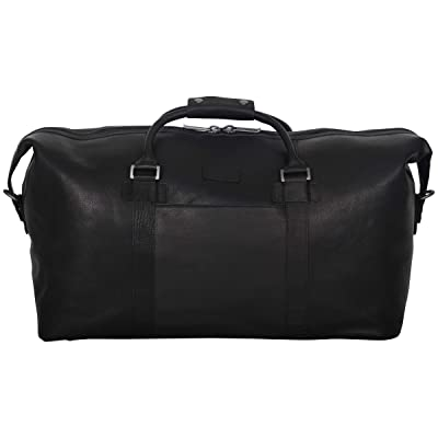 """Kenneth Cole Reaction I Beg to Duff-er' Full-Grain Colombian Leather Top Zip 20"""" Carry-On Duffel Travel Bag"""