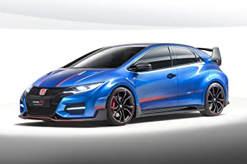 Amazon.com: Honda Civic Type R (2014) Car Art Poster Print on 10 mil ...
