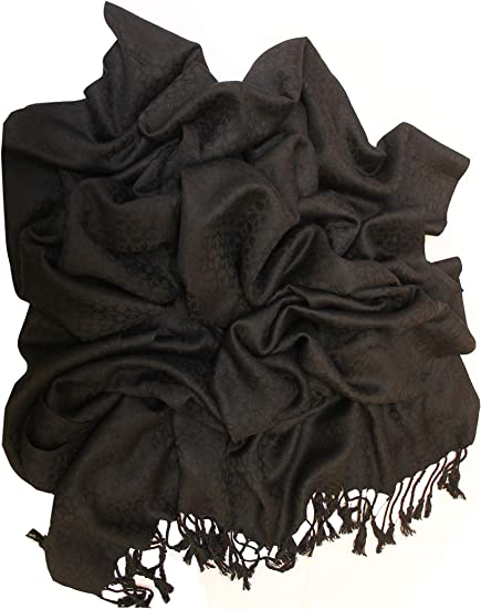 Womens soft Cotton Viscose Solid Long Plain Pashmina Shawl Wrap Scarf Scarves
