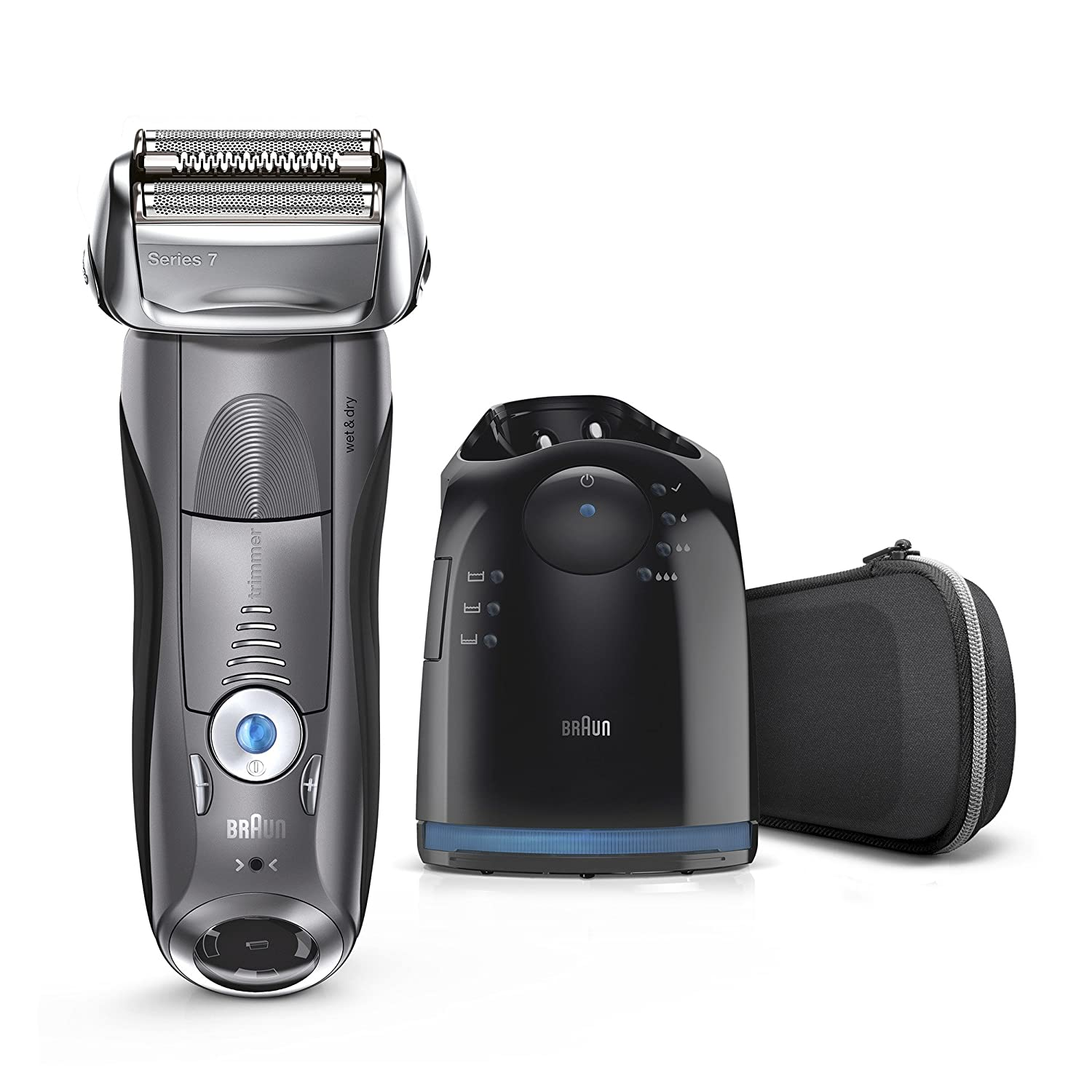 Braun Electric Shaver, Series 7 790cc Men's Electric Foil Shaver/Electric Razor, with Clean & Charge Station, Cordless Series 7-790cc