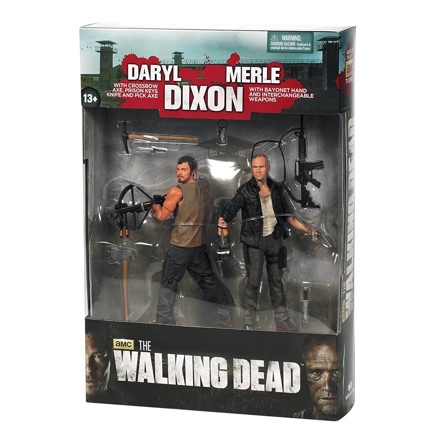 """WALKING DEAD THE DIXON BROTHERS 2-PACK 5/"""" FIGURES New. MCFARLANE TOYS"""
