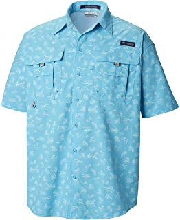 3002d3b1e88 Columbia Men's PFG Super Bahama Short Sleeve Shirt, Breathable, UV  Protection