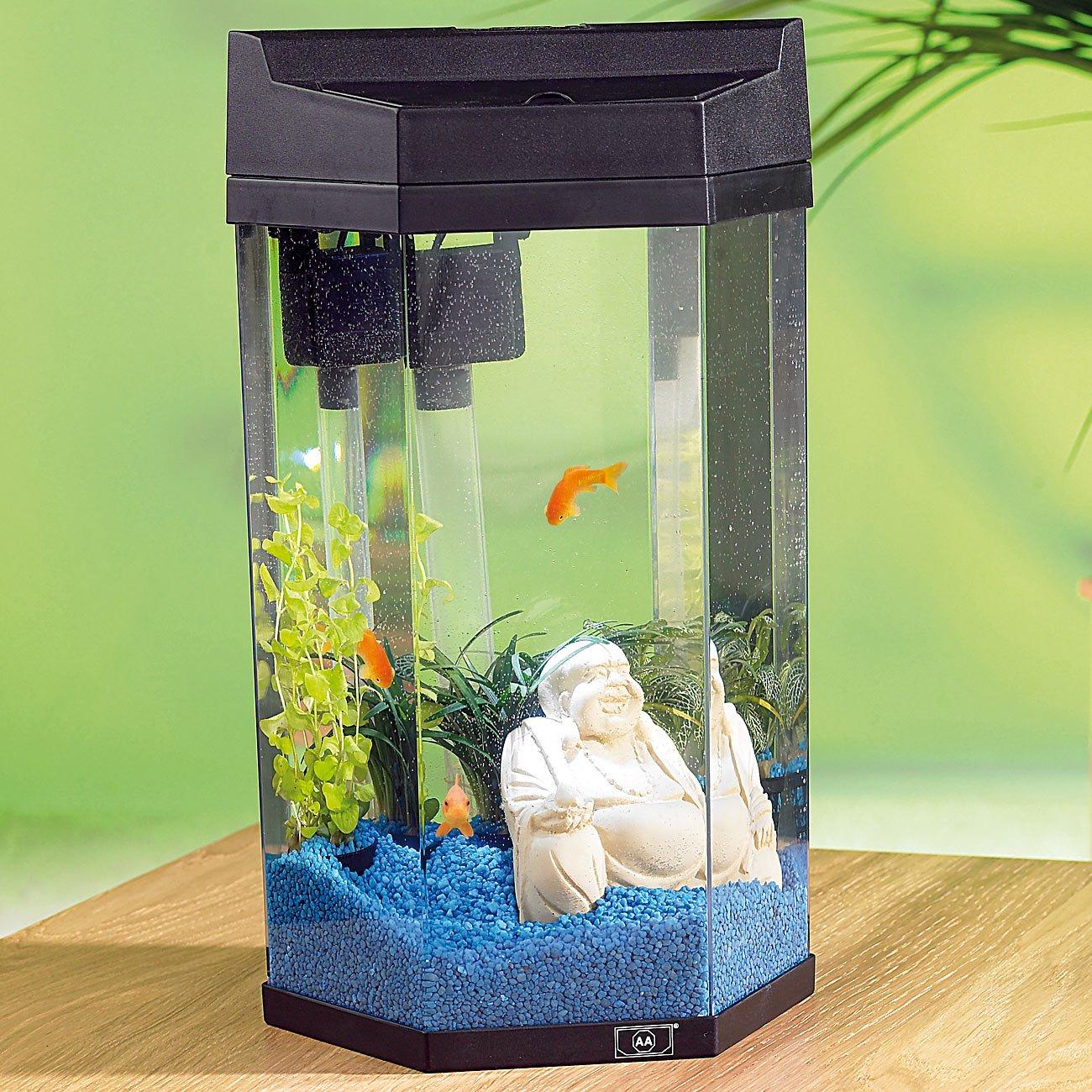 "Cool infactory Aquarien: Säulen-Panorama-Aquarium ""Neptun"" im Komplett  FT98"