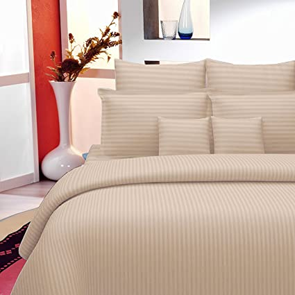 Sheets And Covers Plain Striped Design 275 Cm X 275 Cm Super King