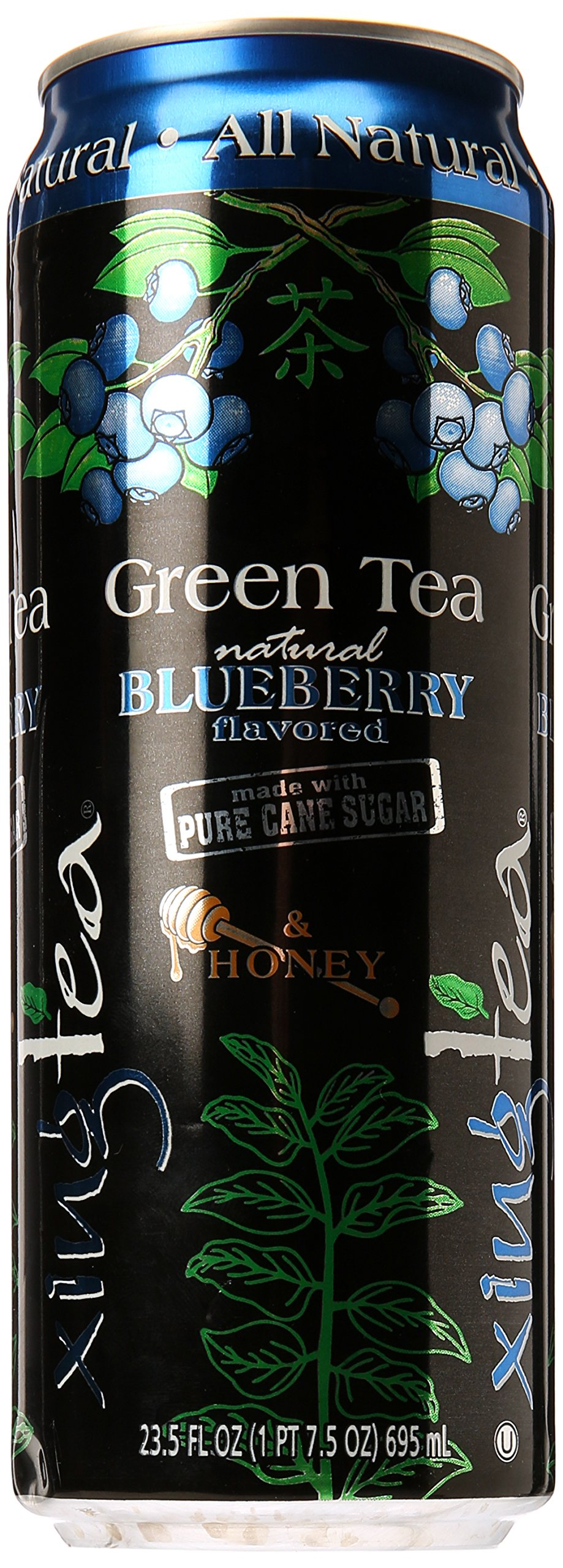 Xing Blueberry and Honey Green Tea in 23.5 Ounce Can, Case of 12