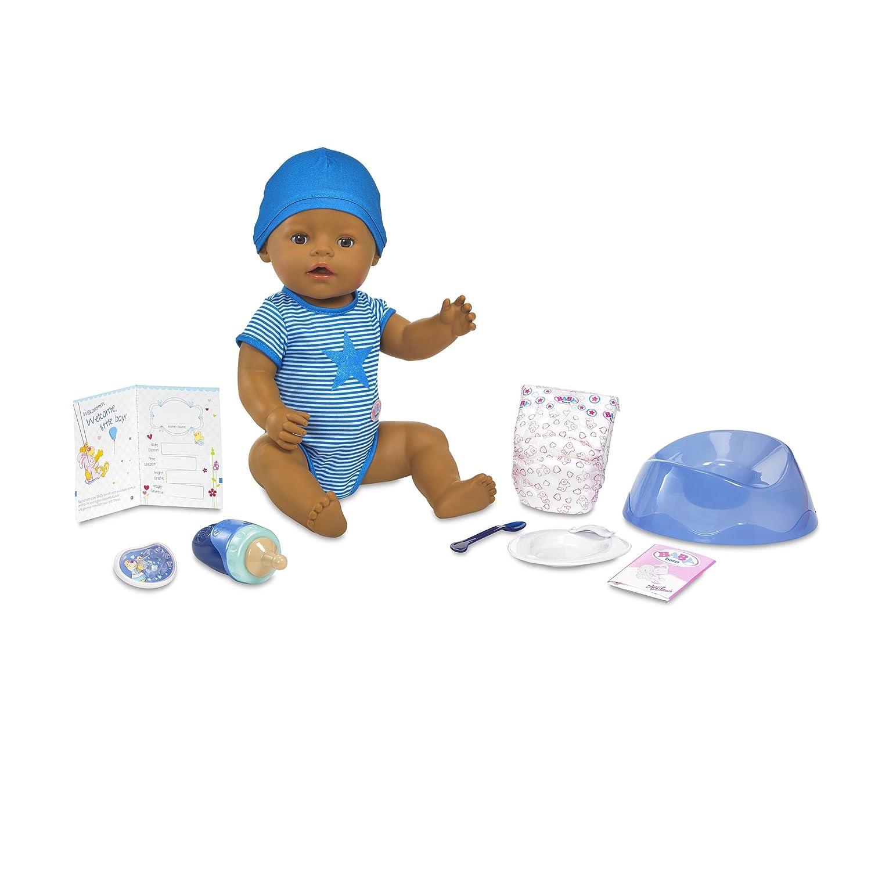 Baby Born Interactive Boy Doll- Dark Brown Eyes