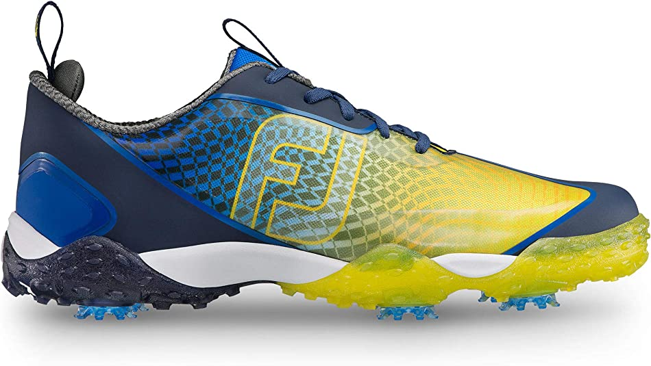 FootJoy Men's Freestyle 2.0-Previous Season Style Golf Shoes Blue 8 M Yellow, US