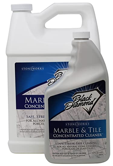 Amazoncom Black Diamond Marble Tile Floor Cleaner Great For - How to shine marble floors naturally