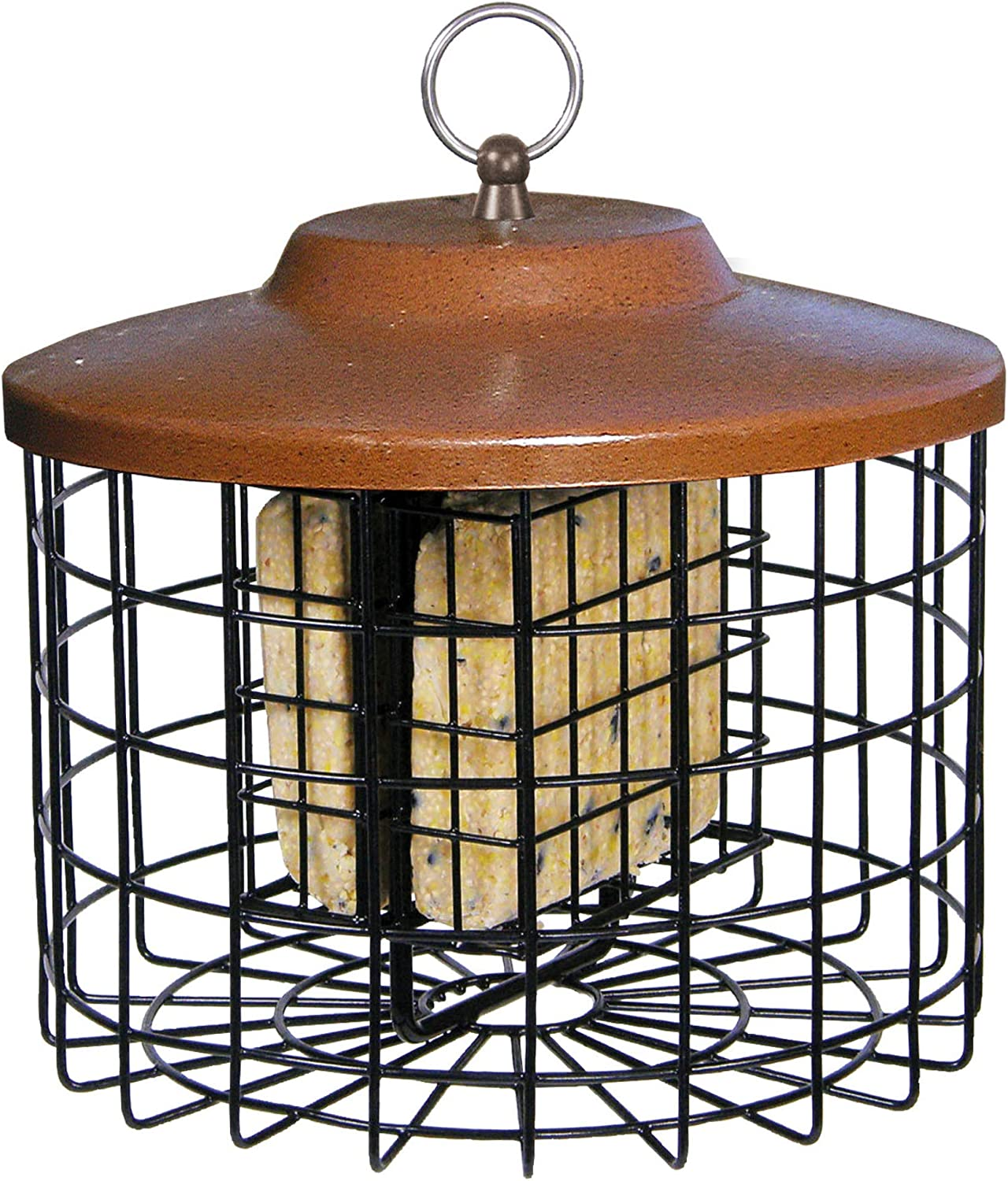 Squirrel-X Squirrel Proof Double Suet Feeder, Cage Bird Feeder, 2 Suet Cake Capacity