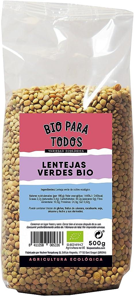 Bio para todos Lentejas Verdes - 10 Paquetes de 500 gr ...