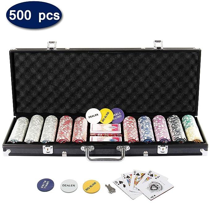 5 opinioni per Display4top Super set da poker- 500 chips laser da 12 grammi con centro in