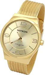 0350fc65e Miykon. Ultra Slim Gold Finish Metal Mesh Bracelet Band Watch 0.5cm  Thickness Water Proof Watches