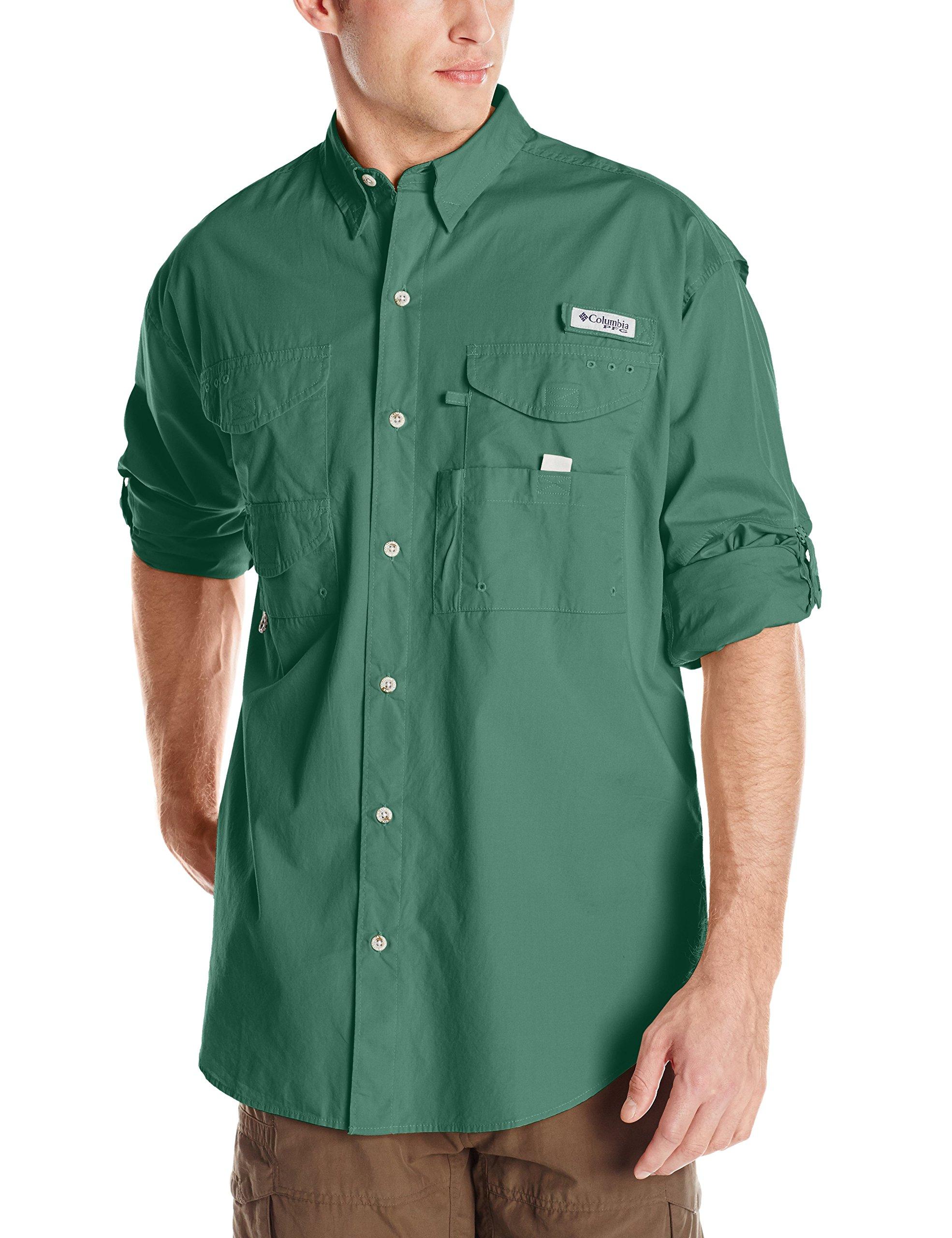 Columbia Men's Bonehead Big & Tall Long Sleeve Shirt, Thyme Green, 3X