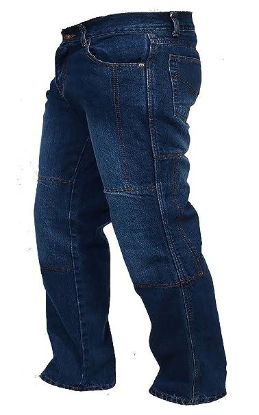 9c2147194e Juicy Trendz Hombre Motocicleta Pantalones Moto Pantalón Mezclilla Jeans  con Protección Aramida Azul  Amazon.es  Ropa y accesorios
