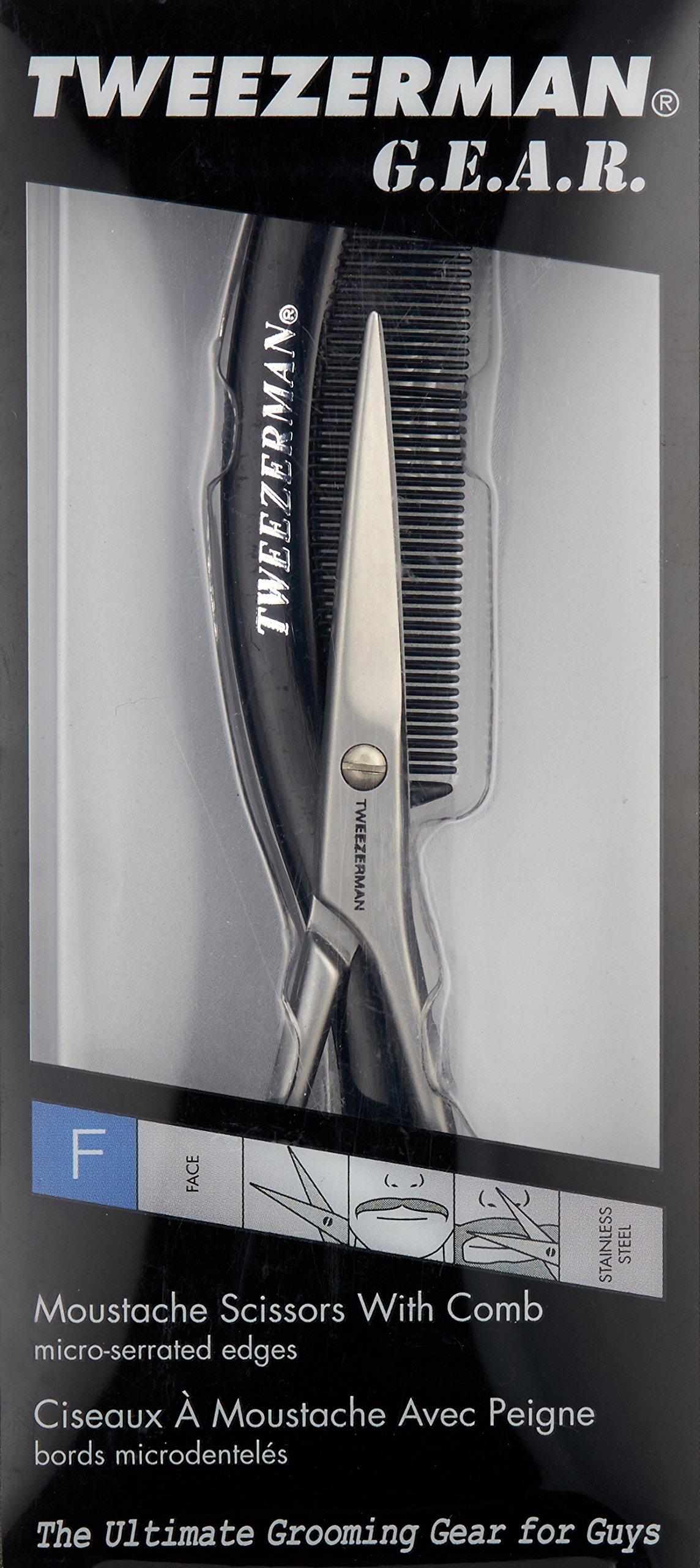 Tweezerman G.E.A.R. Moustache Scissors with Comb by Tweezerman (Image #3)