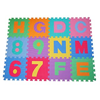 HBlife Alfombras Ni/ños Ambas Caras 200 x 180 CM Alfombra Para Gatear Alfombra Infantil Impermeable Dibujo Animado Alfabeto Patr/ón Para Ni/ñas