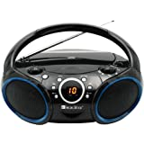 SINGING WOOD Portable CD Player AM FM Analog Tuning Radio with Aux Line in