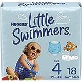 Swim Diapers, Size 4 Medium, Huggies Little Swimmers Disposable Swimpants, 18 ct
