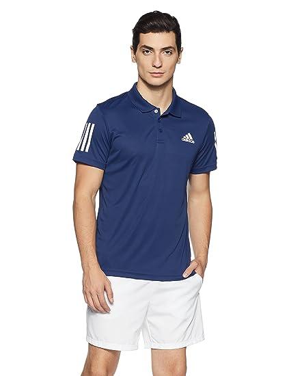 Adidas Club Polo de Tenis, Hombre, Azul (mysblu/White), M