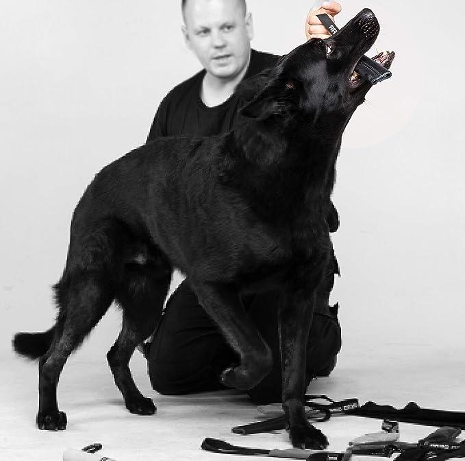 Tug per cani fatto a mano in pelle granata marrone resistente per addestramento K9 Ipo Agility and Just Fun Dingo Gear S00224
