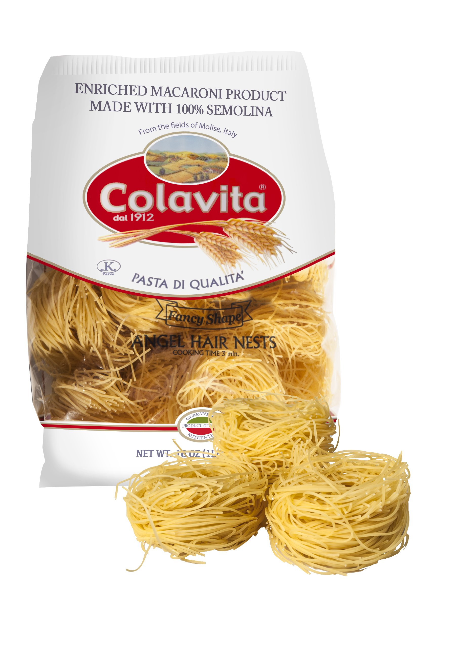 Colavita Pappardelle Nest Pasta, 16-Ounce Boxes (Pack of 10)