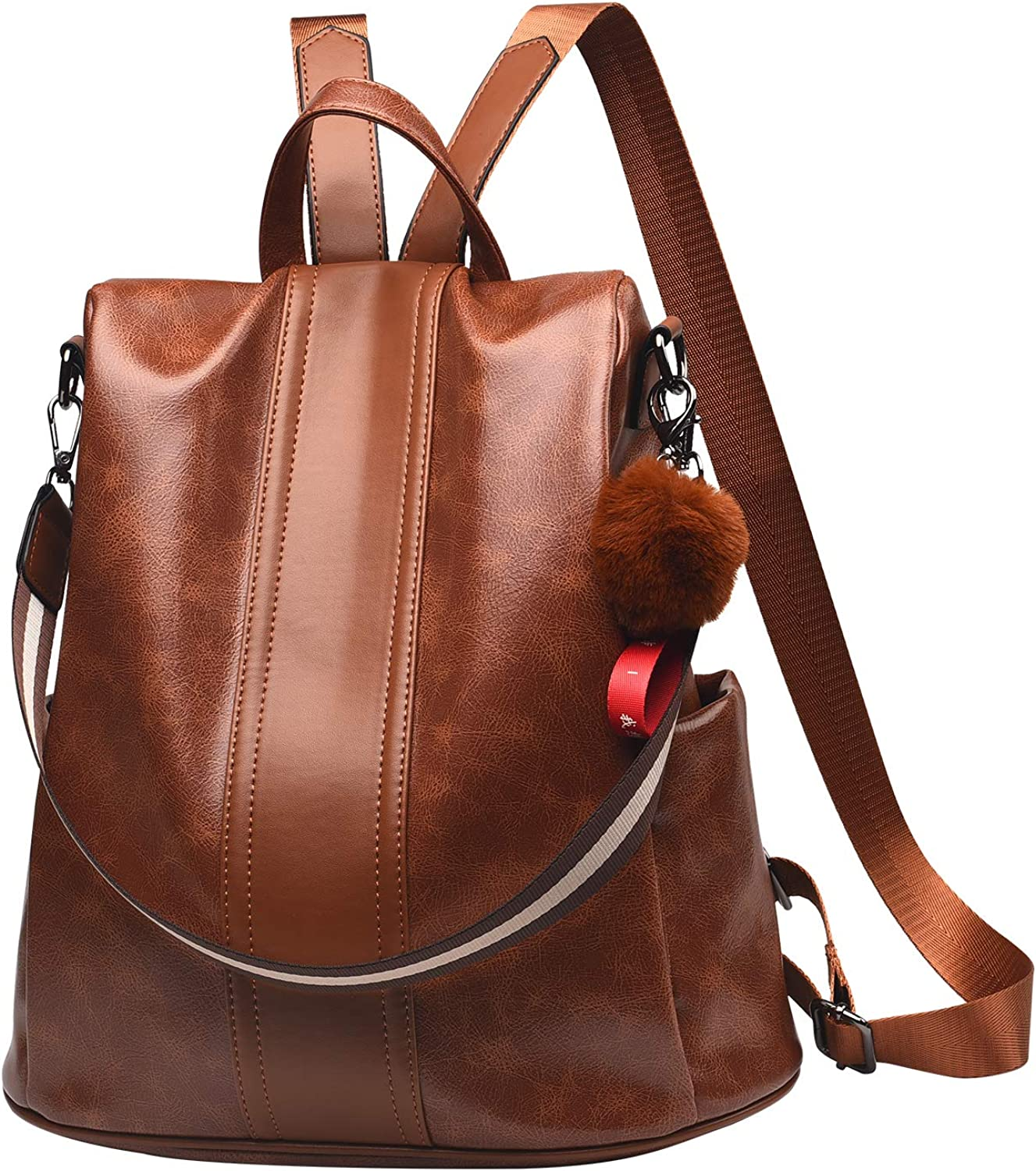 Women Backpack Purse PU...